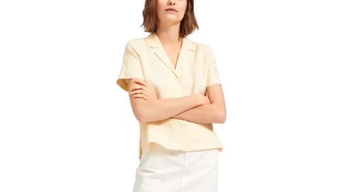 The Linen Short-Sleeve Notch Shirt