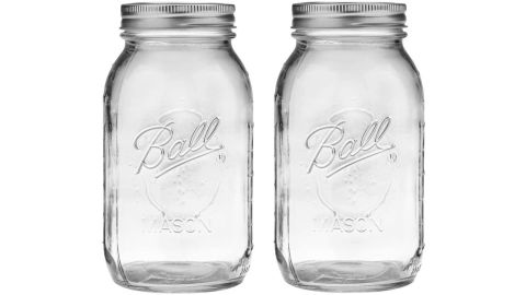 Ball Regular Mouth 32-Ounces Mason Jar with Lids and Bands, 2-Pack