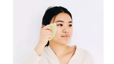 Mei Apothecary Jade Gua Sha Facial Massage Beauty Tool