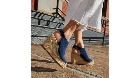 Kenneth Cole New York Women's Olivia Espadrille Peep-Toe Wedges