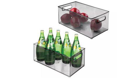 mDesign Plastic Kitchen Pantry Cabinet Food Storage Bins, 2-Pack