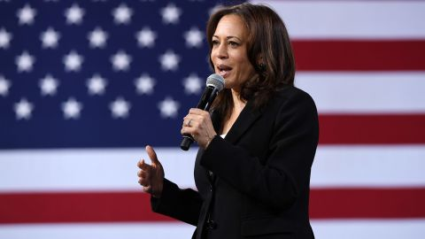 LAS VEGAS, NEVADA - APRIL 27:  Democratic presidential candidate U.S. Sen. Kamala Harris (D-CA) speaks at the National Forum on Wages and Working People: Creating an Economy That Works for All at Enclave on April 27, 2019 in Las Vegas, Nevada. Six of the 2020 Democratic presidential candidates are attending the forum, held by the Service Employees International Union and the Center for American Progress Action Fund, to share their economic policies.  (Photo by Ethan Miller/Getty Images)