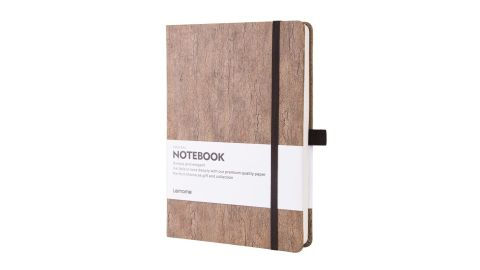 Lemome Eco-Friendly Natural Cork Hardcover Dot Grid Notebook With Pen Loop