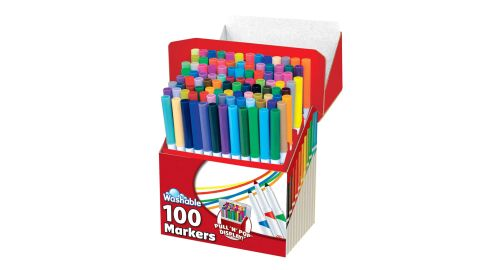 RoseArt SuperTip Assorted Color Washable Markers, 100-Pack