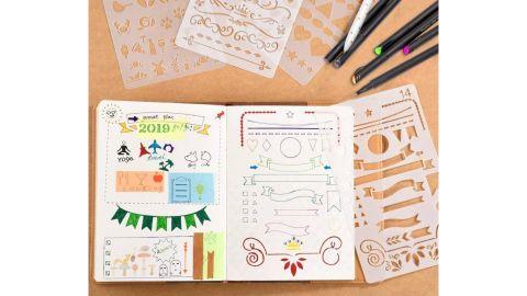 20-Piece Journal Stencil Plastic Planner Set