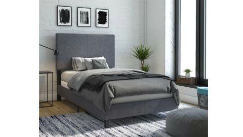 Hashtag Home Mendez Upholstered Panel Standard Bed
