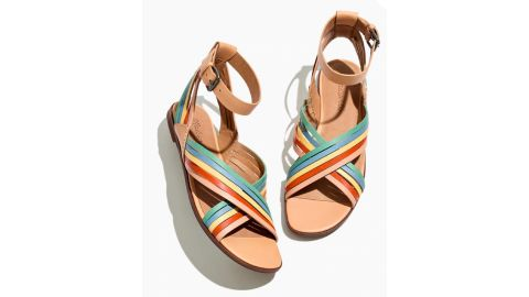 The Samira Flat Sandal in Leather