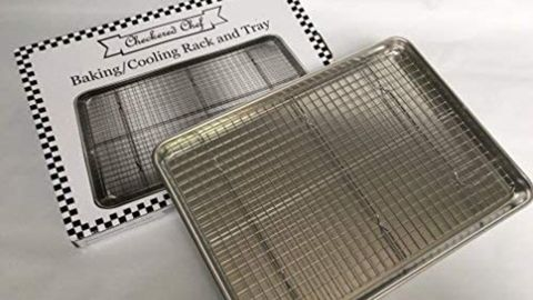 Checkered Chef Baking Sheet and Rack Set