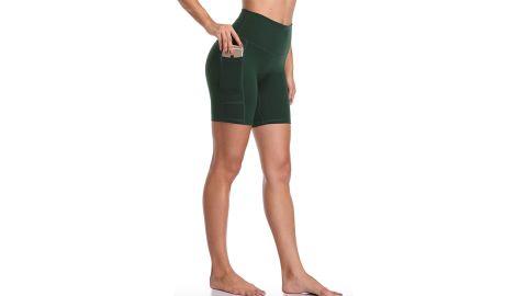 Colorfulkoala Women's High-Waisted Yoga Shorts With Pockets