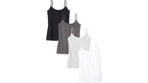 Amazon Essentials Slim Fit Camisole, 4-Pack