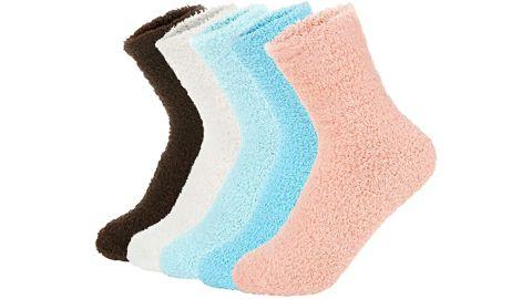 Zando Warm Super Soft Plush Slipper Sock