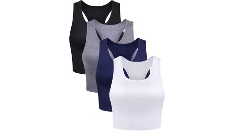 Boao Basic Crop Tank Top, 4-Pack