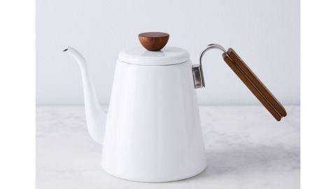 Enamel Pour-Over Gooseneck Kettle