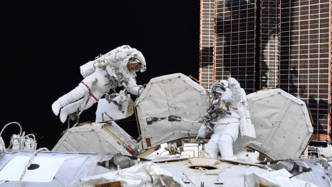 """On July 21, Hurley tweeted: """"Two of the best ever Spacewalkers, each on their 10th EVA today. Congratulations on an amazing accomplishment @Astro_SEAL and @AstroBehnken!"""" Behnken was joined by NASA astronaut Chris Cassidy."""