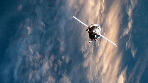 Russia's Progress 76 resupply ship, packed with nearly three tons of food, fuel and supplies, approaches the International Space Station above Ukraine on July 23.