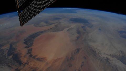 """Earth Art, southwest Libya,"" Hurley tweeted on June 29."