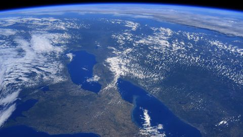"""""""I stayed up late last night to spend some time looking out the window. It was a beautiful day to see the Great Lakes and my childhood home in upstate New York,"""" Hurley wrote on June 13."""