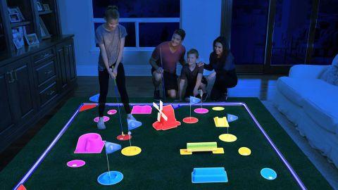 4Fun Delux Cosmic Glow Golf Course Set