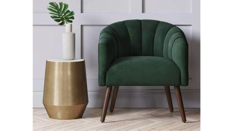 Project 62 Gwynne Modern Barrel Chair With Channel Seams