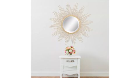 Stonebriar Collection 23-Inch Metal Sunburst Wall Mirror Gold