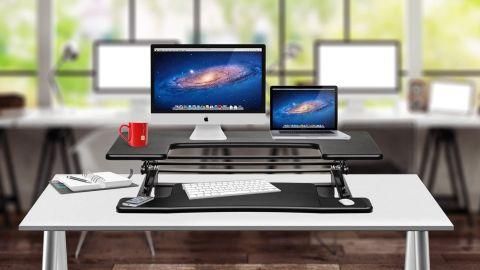 Halter Preassembled Height-Adjustable Desk Sit-to-Stand Elevating Desktop