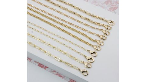 DearMia Face Mask Chain Gold Necklace