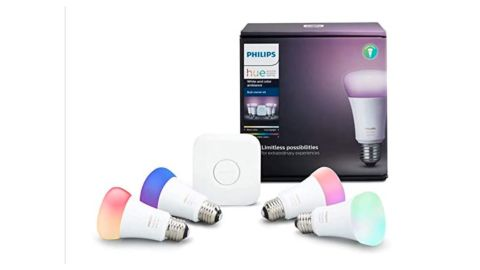Philips Hue White and Color Ambiance A19 LED Smart Lighting Starter Kit