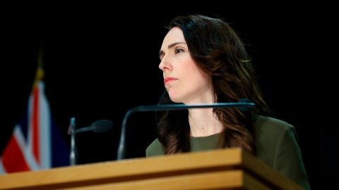 WELLINGTON, NEW ZEALAND - AUGUST 17: Prime Minister Jacinda Ardern speaks to media during a press conference at Parliament on August 17, 2020 in Wellington, New Zealand. Prime Minister Jacinda Ardern announced that New Zealand's General Election will be delayed until 17 October due to disruptions caused by COVID-19 restrictions. Restrictions are in place across the country following the discovery of a coronavirus cluster in Auckland. Auckland is at Level 3 lockdown restrictions, while the rest of New Zealand is operating under Level 2. The restrictions will be in place until 11:59pm Wednesday 26 August, with Cabinet to review those settings on 21 August. COVID-19 restrictions were reintroduced across New Zealand on Wednesday 12 August in response to the discovery of a COVID-19 cluster in Auckland. (Photo by Hagen Hopkins/Getty Images)