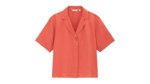 Linen Blend Short-Sleeve Shirt