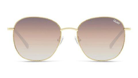 Quay Australia Jezabell 53mm Glitter Aviator Blue-Light-Blocking Glasses