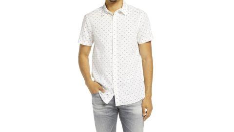 Scotch & Soda Classic Fit Short-Sleeve Button-Up Shirt