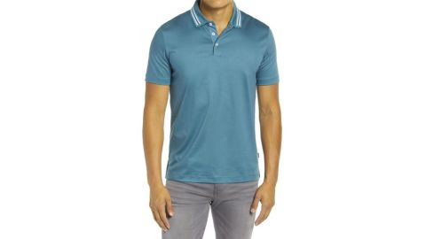 Boss Piket Tipped Collar Polo