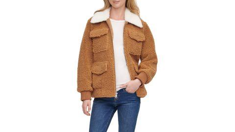 Levi's Faux Fur Collar Fleece Jacket