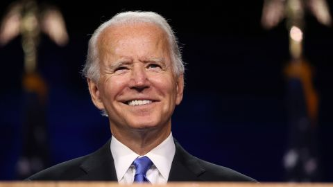 WILMINGTON, DELAWARE - AUGUST 20: Democratic presidential nominee Joe Biden speaks on the fourth night of the Democratic National Convention from the Chase Center on August 20, 2020 in Wilmington, Delaware. The convention, which was once expected to draw 50,000 people to Milwaukee, Wisconsin, is now taking place virtually due to the coronavirus pandemic. (Photo by Win McNamee/Getty Images)
