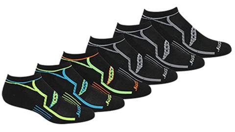 Saucony Bolt Performance Comfort Fit No-Show Socks, 6-Pack