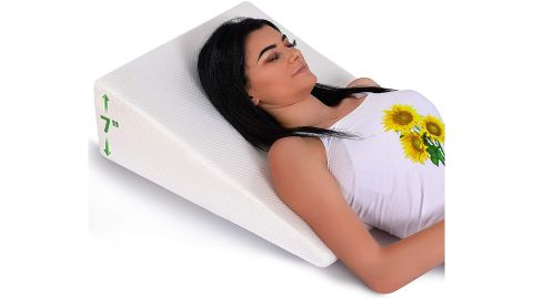 Abco Tech Bed Wedge Pillow With Memory Foam Top