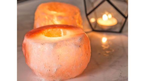 Crystal Allies Natural Himalayan Salt Candle Holders