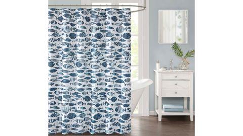 Decor Studio Sanibel Faux Linen Shower Curtain