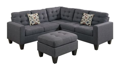 Andover Mills Pawnee 84-Inch Sectional with Ottoman