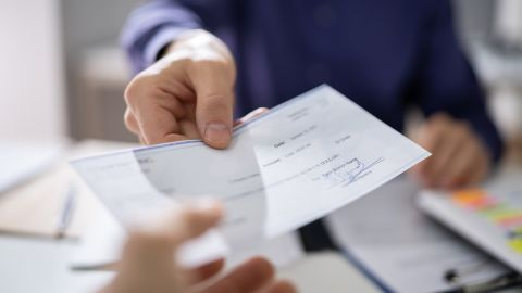 If you write a check but don't have enough money in your checking account to cover it, you'll overdraw your account.