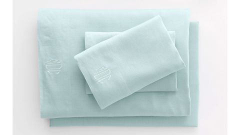 Lands' End Garment Washed Linen Solid Sheets