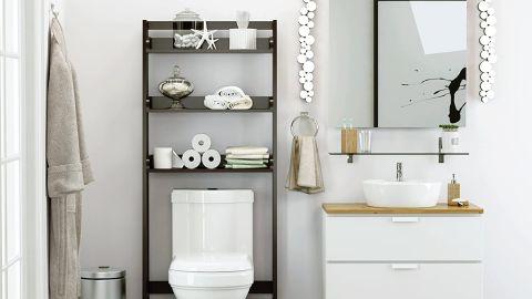 Small Bathroom Storage Ideas Cnn, Mirrored Bathroom Floor Cabinet