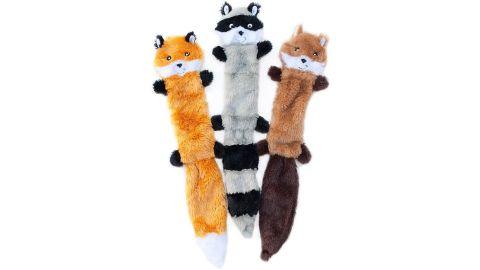 ZippyPaws Skinny Peltz No Stuffing Squeaky Plush Dog Toy