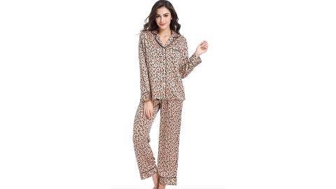 Serenedelicacy Women's Silky Satin Pajamas