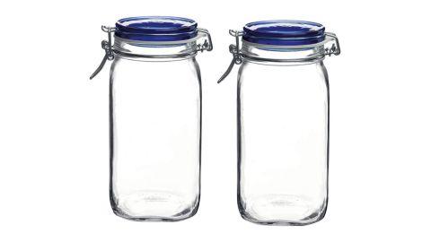 Bormioli Rocco Fido Square Jar, 2-Pack