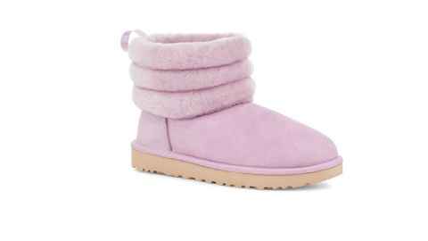 Classic Mini Genuine Shearling Fluff Quilted Boot
