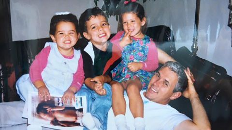 """Pence poses with his three children: Audrey, Michael and Charlotte. <a href=""""https://twitter.com/GovPenceIN/status/744510173339856896"""" target=""""_blank"""" target=""""_blank"""">He posted this old photo to Twitter in 2016.</a>"""