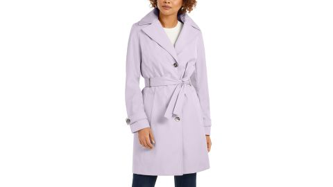 Calvin Klein Belted Water-Resistant Trench Coat