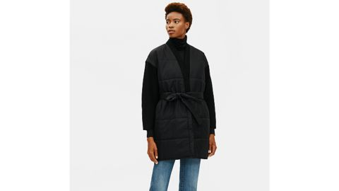 Recycled Nylon With Boiled Wool Coat