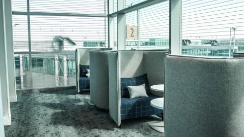 You'll have a small space to yourself with these lounge cubby seats.